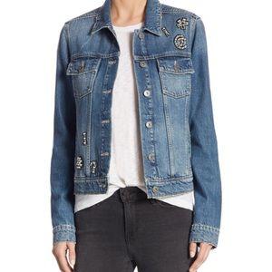 Trendy Embellished Denim Jacket